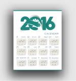 New year 2016 Calendar. Design stock illustration