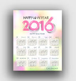 New year 2016 Calendar. Design vector illustration