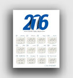 New year 2016 Calendar Stock Images