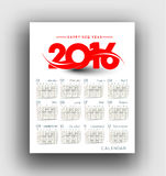 New year 2016 Calendar Royalty Free Stock Images