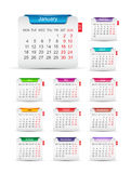 New year 2016 calendar design. Vector illustration Stock Image