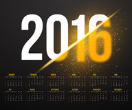 New Year 2016 Calendar with Explosion Effect. Illustration of New Year 2016 Calendar with Explosion Effect. Happy New Year Vector Background Royalty Free Stock Photo