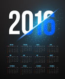 New Year 2016 Calendar with Explosion Effect. Illustration of New Year 2016 Calendar with Explosion Effect. Happy New Year Vector Background Stock Photography