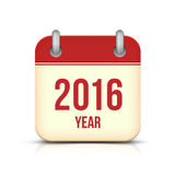 New Year 2016 Calendar Icon Royalty Free Stock Image