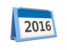 2016 New year calendar icon. On white Stock Images
