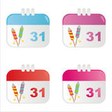 New year calendar icons. Set of 4 new year calendar icons Stock Image