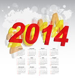 New year 2014 calendar Stock Images