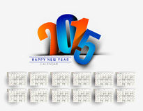 New Year 2015 Calendar. Modern New Year 2015 Calendar Background Stock Photo