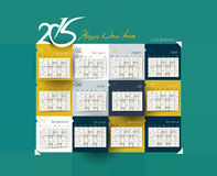 New Year 2015 Calendar. Modern New Year 2015 Calendar Background Stock Images