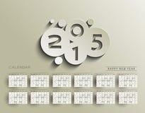 New Year 2015 Calendar Royalty Free Stock Photography