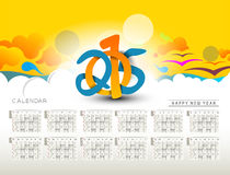 New Year 2015 Calendar Stock Photo