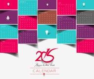 New Year 2015 Calendar. Modern New Year 2015 Calendar Background Stock Photography