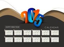 New Year 2015 Calendar Royalty Free Stock Photos