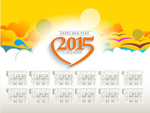 New Year 2015 Calendar. Modern New Year 2015 Calendar Background Royalty Free Stock Photos