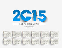 New Year 2015 Calendar. Modern New Year 2015 Calendar Background Royalty Free Stock Image