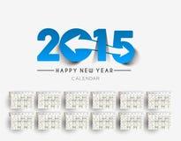 New Year 2015 Calendar Royalty Free Stock Image