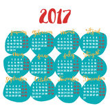 New year - calendar - months. Stock Photos