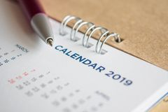New year calendar page 2019 royalty free stock image