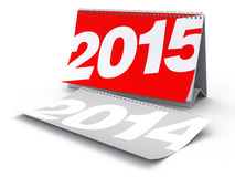 New Year 2015 Calendar. 2015 New Year's.  on white background. 3D Rendering Royalty Free Stock Photo