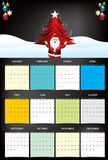 New year calendar with santa claus. Vector illustration stock illustration