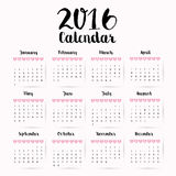 New year calendar schedule. Graphic design, vector illustration eps 10 Royalty Free Stock Photo
