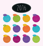 New year calendar schedule. Graphic design, vector illustration eps 10 Royalty Free Illustration