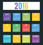 New year calendar schedule. Graphic design, vector illustration eps 10 Royalty Free Stock Image