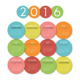 New year calendar schedule. Graphic design, vector illustration eps 10 Royalty Free Stock Photography