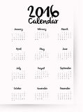 New year calendar schedule. Graphic design, vector illustration eps 10 Royalty Free Stock Photos