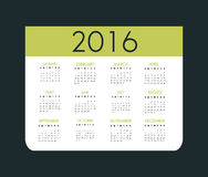 New year calendar schedule. Graphic design, vector illustration eps 10 Royalty Free Stock Images