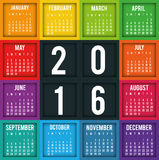 New year calendar schedule. Graphic design, vector illustration eps 10 Stock Photography