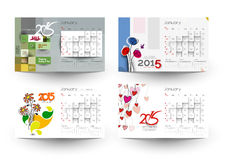 New Year 2015 Calendar. Set of  New Year 2015 Calendar Background Stock Images