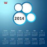 2014 new year calendar Stock Photos