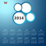 2014 new year calendar. Vector illustration stock illustration