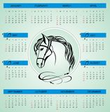 2014 new year calendar. Vector illustration Royalty Free Stock Photos