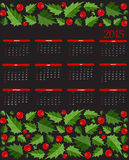 New Year 2015  Calendar Vector Illustration Royalty Free Stock Image