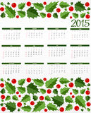 New Year Calendar 2015. Vector Illustration. 2015 New Year Calendar Vector Illustration. EPS10 Royalty Free Stock Photos