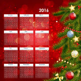 2016 New Year Calendar Vector Illustration. EPS10 Stock Photo
