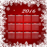 2016 New Year Calendar Vector Illustration. EPS10 Royalty Free Stock Images