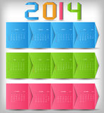 2014 new year calendar vector illustration Royalty Free Stock Photo