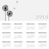 2014 new year calendar vector illustration. This is file of EPS10 format Stock Photos