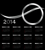 2014 new year calendar vector illustration Stock Photos