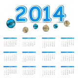 2014 new year calendar vector illustration Royalty Free Stock Photography