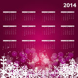 2014 new year calendar vector illustration. This is file of EPS10 format Royalty Free Stock Image