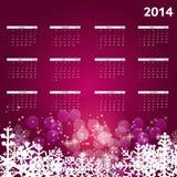 2014 new year calendar vector illustration Royalty Free Stock Image