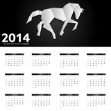 2014 new year calendar vector illustration Stock Images