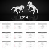 2014 new year calendar vector illustration Royalty Free Stock Images