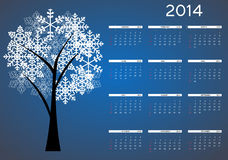 2014 new year calendar vector illustration Stock Photography