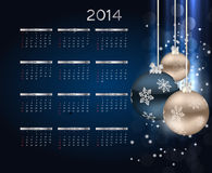 2014 new year calendar vector illustration. This is file of EPS10 format Royalty Free Stock Photos