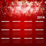 2014 new year calendar vector illustration. This is file of EPS10 format Royalty Free Stock Images